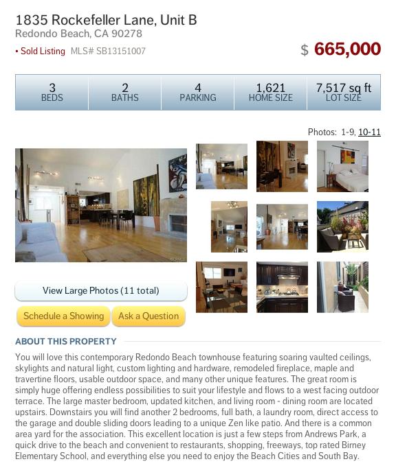 1835 Rockefeller Ln Unit B Redondo Beach CA 90278
