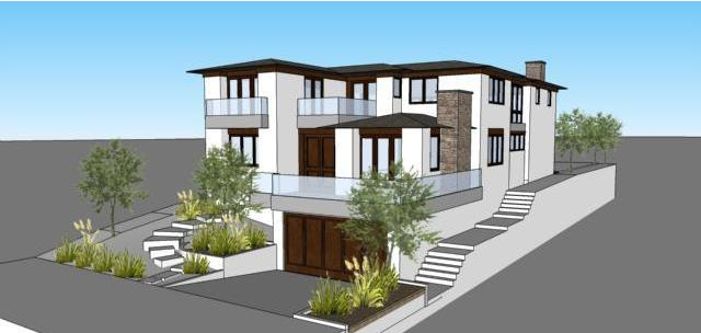 Manhattan Beach New Construction Rendering