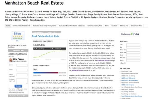 Real Estate Website 90266 Real Estate