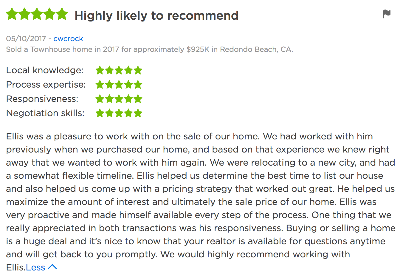 Zillow Reviews Ellis Posner