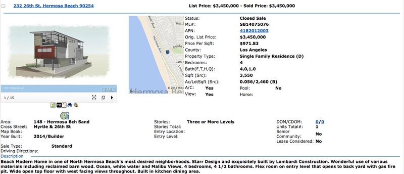 232 26th ST Hermosa Beach MLS