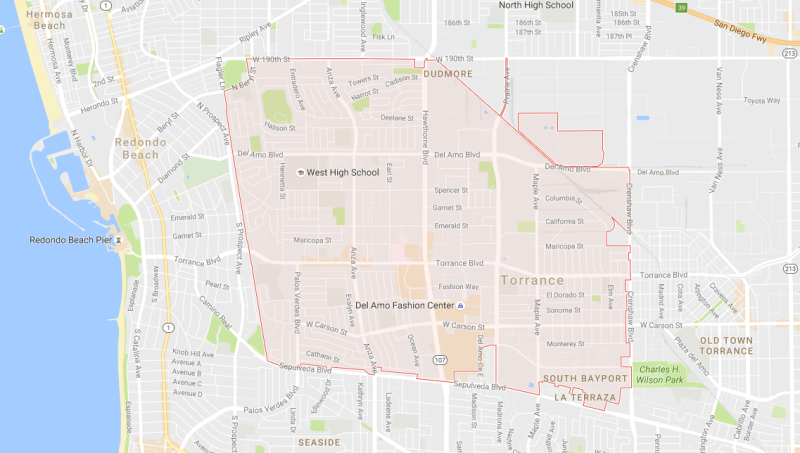 Torrance 90503 Map